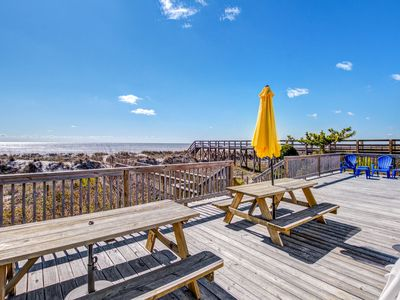 Photo for Spacious oceanfront home w/ free WiFi and large deck overlooking the beach!