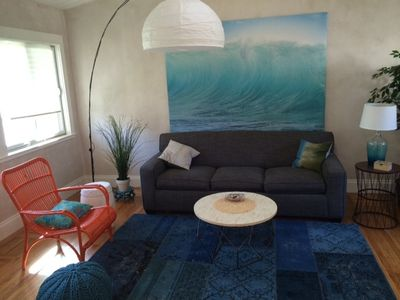 fresh and cozy living at our seacliff beach bungalow!
