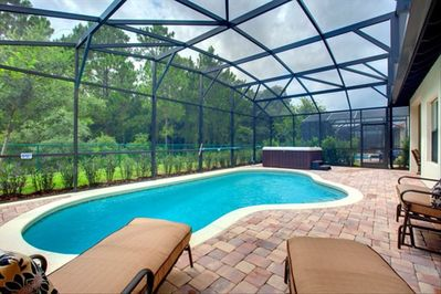 The private Pool and Hot Tub overlooking the conservation area.