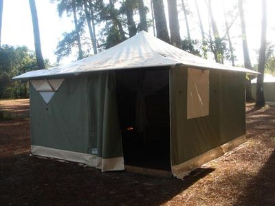 Photo for Camping La Fontaine *** - Canvas Bungalow 3 rooms 5 people Without Bathroom