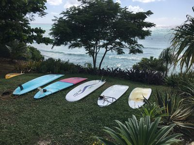 Surfing and Paddle boarding lessons available from local operators.