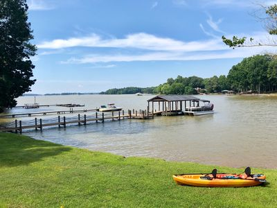 Photo for Amazing Lakefront Retreat - New Listing - 6 Bedrooms - Private Dock - Rent Boat