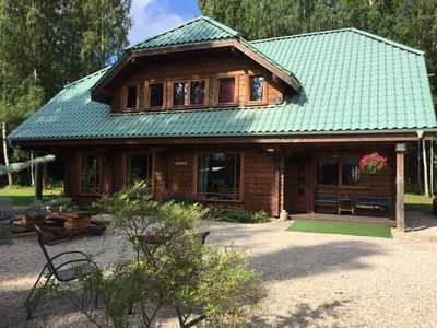 Photo for Holiday house with swimming pool and sauna on the Latvian Baltic coast!