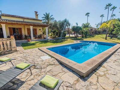 Photo for This 4-bedroom villa for up to 8 guests is located in Inca and has a private swimming pool, air-cond