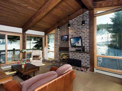Photo for SLopeside ski in-ski-out ,free parking,elevator,fireplace,hot tub,pool,fitness