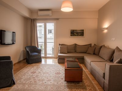Photo for Stylish serviced flat for 3 in the heart of Athens!