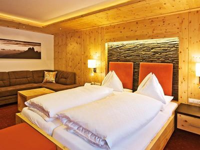 "Photo for Room ""Zirbenstein mit Ostbalkon"", 4-6 nights - Alpenhof, country hotel"
