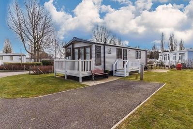 Caravan for hire with decking
