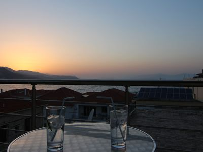 Photo for Stylish apartment, panoramic views over the Gulf of Corinth