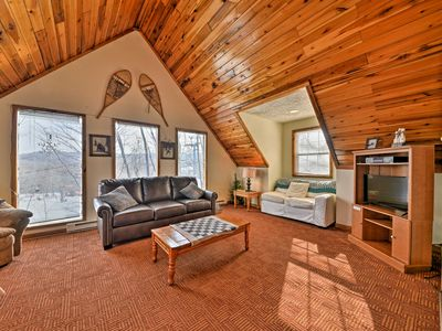 Photo for Ski-In/Ski-Out Ghent Cabin w/ Mountain Views!