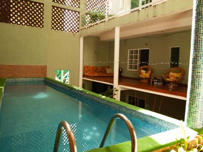 Photo for Beautiful guest house, 2 blocks from the beach!