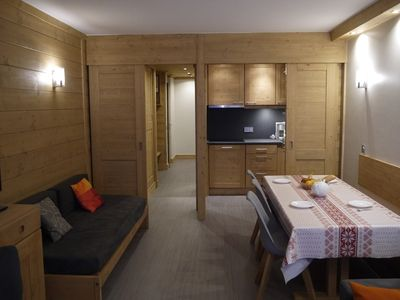 Photo for Comfortable 3 rooms flat on the piste