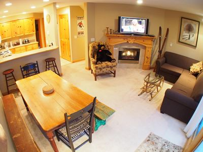 Photo for Multi level 3 bedroom condo with ground floor entrance, close to village center and next to ski runs