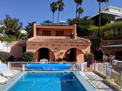 Photo for Luxury villa with private heated pool in private garden. Close to beaches