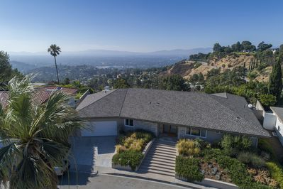 Birds Eye View of Hollywood Hills Haven on top of the Hollywood Hills