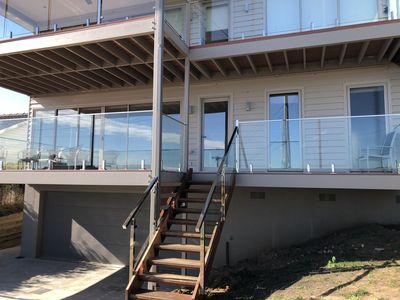 External lower alfresco deck to watch the magnificent sunsets at Portarlington
