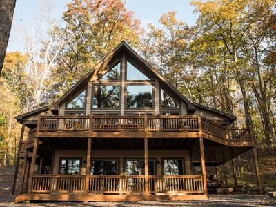 Photo for Crabby Badger- Beautiful Mountain & Lake Views with Hot Tub and Fire Pit