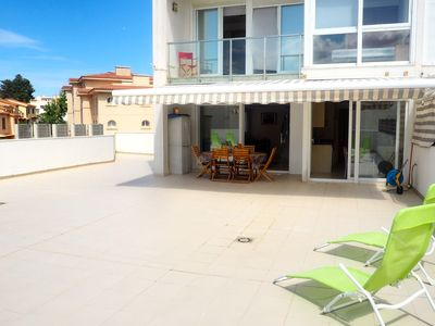Photo for Duplex very well located, with a huge terrace of 100m2. Three bedrooms (two double beds a