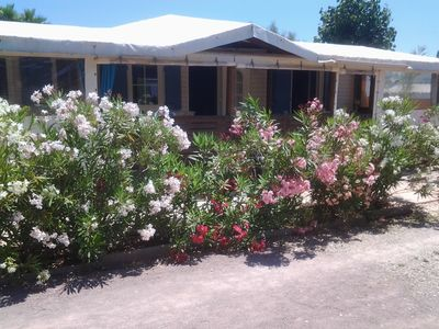 Photo for Mobile home 4 people Pampelonne beach Ramatuelle 100 m from the sea