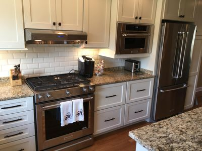 """Upscale appliances in this """"cook's kitchen"""""""
