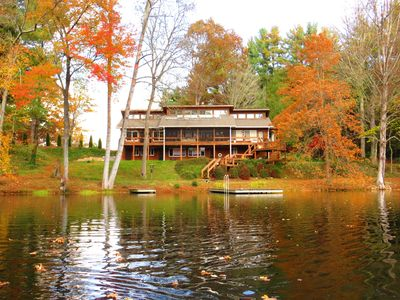 Photo for Wonderful Lodge Over Looking Beautiful Lake On 18 Pristine Acres In Asheville