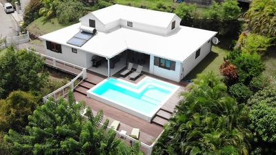 Photo for Creole villa with pool, close to the beach and overlooking the Caribbean Sea
