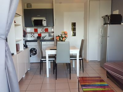 Photo for Air-conditioned holiday apartment Sea view Thalasso Wifi independent