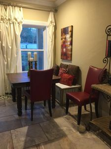 NEW!  Window seat and dining area