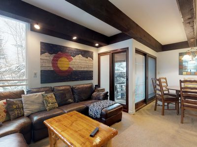 Photo for Cozy condo in a great location w/ a shared, heated pool, hot tub, & gym