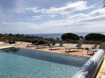 Photo for Sainte Maxime - Air-conditioned villa-10 pers-heated pool-exceptional sea view