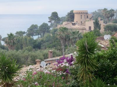 Photo for VILLA A TROPEA Private Beach Terrace Aeolian View TOP Pool and comfort
