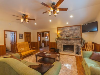 Photo for Gorgeous Lodge, Fenced Yard, Wrap Around Deck, minutes from Ohiopyle!