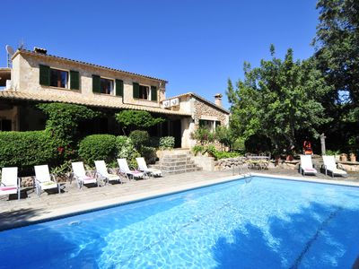Photo for Villa with pool, barbecue and ping-pong. 12 minutes from Palma, Soller, Valldemossa