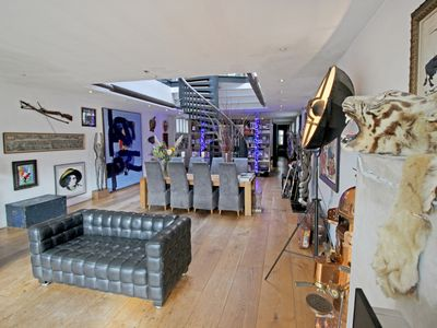 Photo for Elegant LOFT of 250m2 in city centre with huge roof terrace