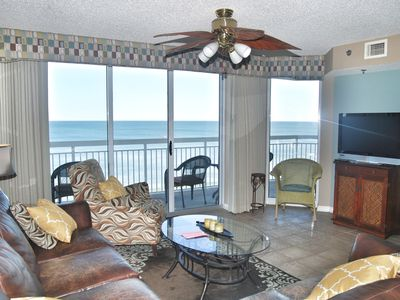 Photo for Crescent Shores 911- Relax in comfort on this 26 foot oceanfront balcony!!!!