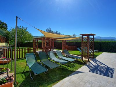 Photo for Private Villa with A/C, WIFI, private pool, TV, patio, panoramic view, parking, close to Montalcino