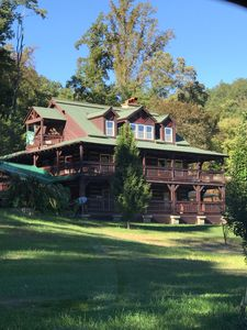 Photo for Family cabin lake and pool, yard ,fire pit , Private ! Fabulous views ,Wifi