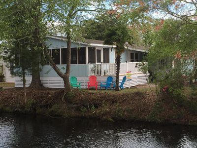 Photo for Newly Renovated Beach House. On Canal With Screened-in Porch & Carolina Room.