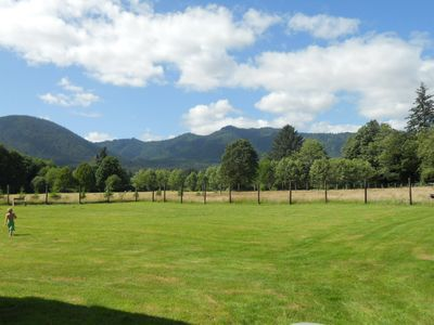 The Back Yard and Horse Pasture.  Look at this view!