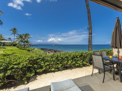 Photo for Amazing Location! Ground Floor Oceanfront Bliss! Makena Surf G102
