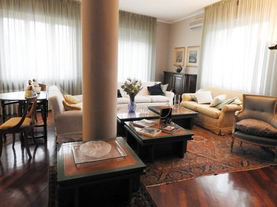 Photo for Spacious and bright penthouse in the heart of the city of Parma near the station
