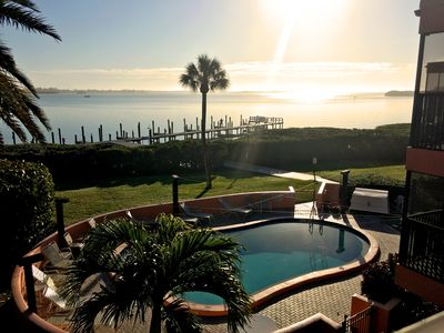 Photo for Waterfront Gulf and Bay Condo with Pool & Spectacular Views
