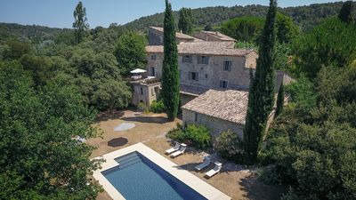Photo for 8 bedroom 12thC Priory in Provence countryside, next Mt. Ventoux & Rhone wines