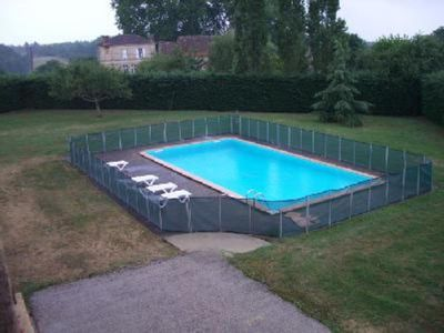 GITE DE REBEYRIOTTE Cloture piscine