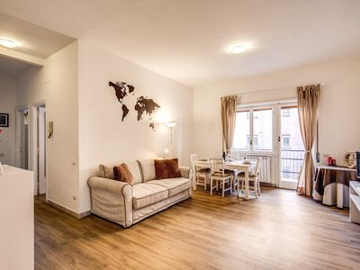 Photo for Apartment in the Vatican, 100 meters from the metro station with parking