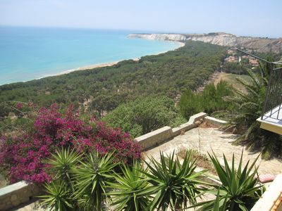 Photo for HOUSE beautiful terrace on the sea of Eraclea Minoa Agrigento-Sciacca Sicily