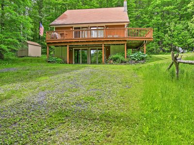 Photo for Large Jewett Cabin w/Deck - 10 Mins to Hunter Mtn!