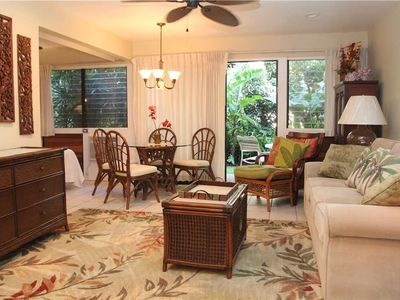Photo for Garden View Maui Condo in a Quiet Beachfront Resort is about Fifty Steps from the Beach