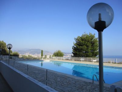 Photo for Nice, view of Baie des Anges, terraces, bright 2 rooms of 68m2