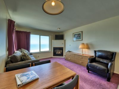 Photo for Motel suite with amazing ocean views, fireplace & shared hot tub/pool!